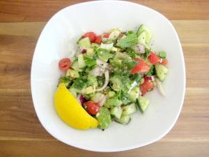 My Raw Version of Fattoush Salad