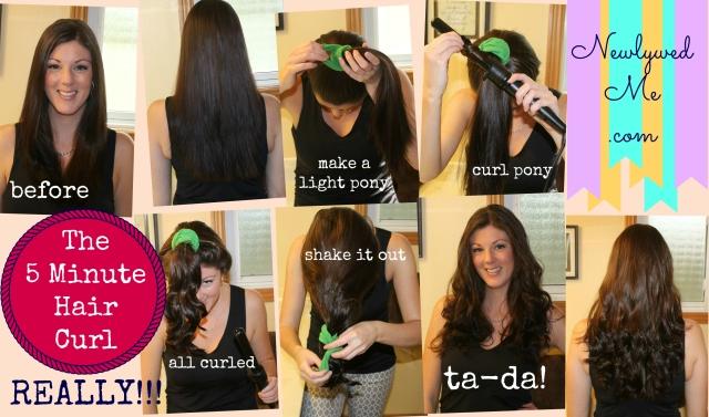 5 minute hair curl , newlywedme.com